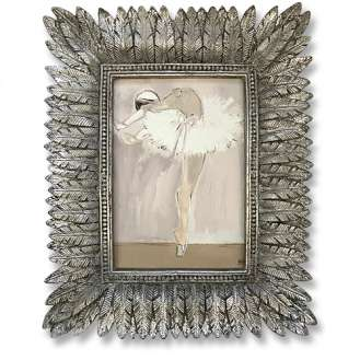 'Like a Feather' Gouache & Acrylic on Board in Feather Cast Silver Gilt Frame (B1004)