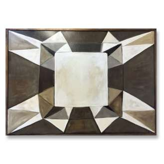 'Topaz' Oil & Acrylic on Board in Bronze/Silver Finish Tray Frame (B832)