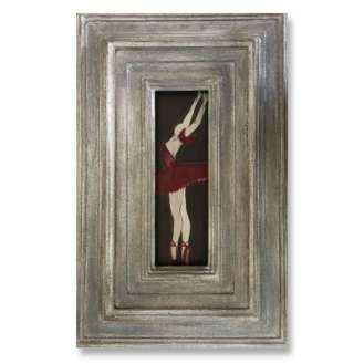 'The Red Shoes' Oil & Acrylic on Board in Silver Leaf Wooden Frame (B851)